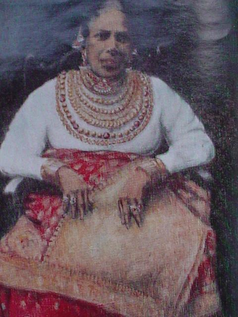 A Karava caste lady from the past with royal ornaments