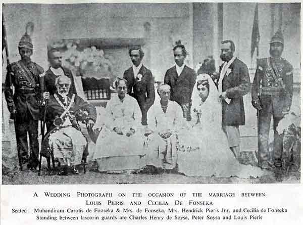 Wedding of Loius Pieris and Cecilia de Fonseka, Karava caste