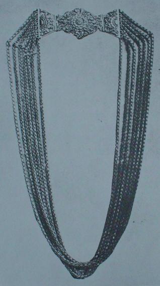 A Karava Siri Bo mala gold Necklace, Sri Lanka