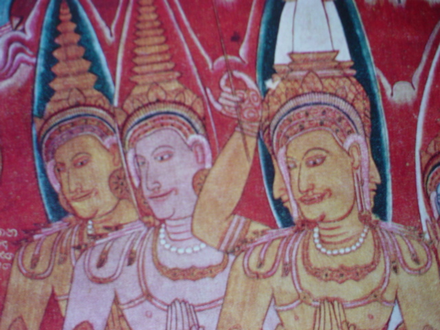 Ancient temple mural Sri Lanka