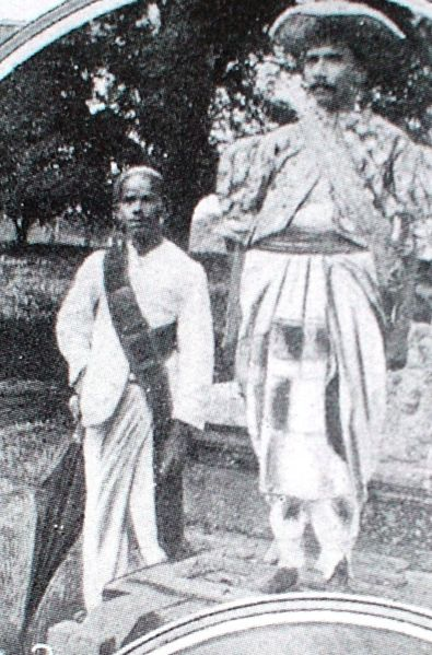 Eknaligoda with a black umbrella - early days of umbrellas for Nilames