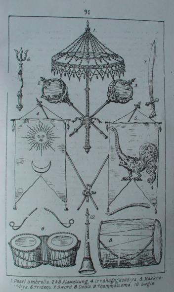 Karava royal insignia, Sri Lanka
