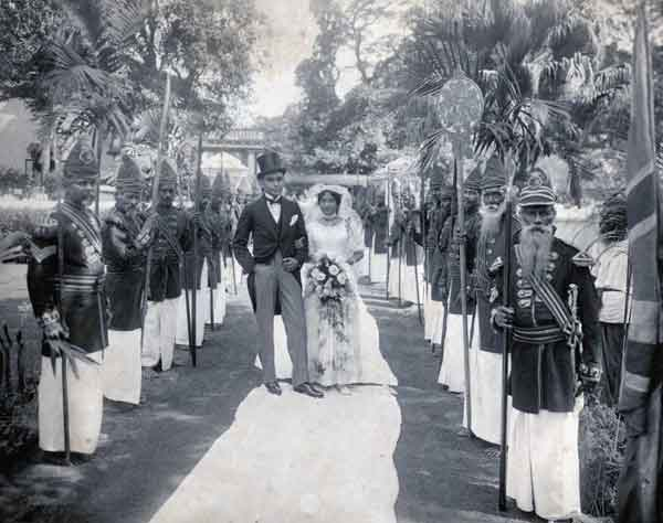Wedding of Loius Pieris and Cecilia de Fonseka, Karava caste 1885
