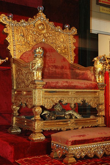 The royal throne of Sri Lanka